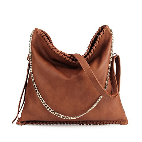 LWK Handbags Women Bags Hobo Large Fashion Women 284 Handbags Shoulder Bags Tote Leather PU Capacity for Brown rqr65wdn