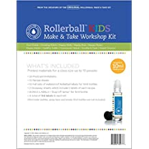 Roller Ball Kids Essential Oil Make And Take Workshop Kit - Includes Labels, Recipes, Postcard Invitations & Tip Sheet For Up To 10 People - Everything You Need To Host Your Own DIY How To Class