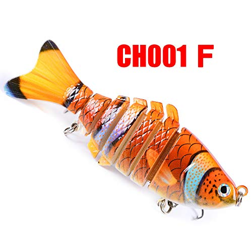 (SHUDAGE Outdoor Fishing ღ1PC Fishing Lures 10cm Plastic Hard Bass Baits 8 Colors Minnow Lures)