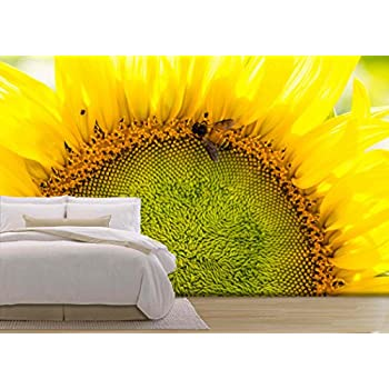 Sunflower - Removable Wall Mural  Large Wallpaper