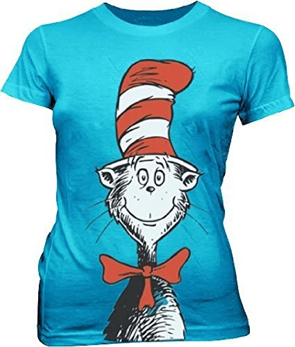 Oversized Cat in the Hat Turquoise Blue Juniors