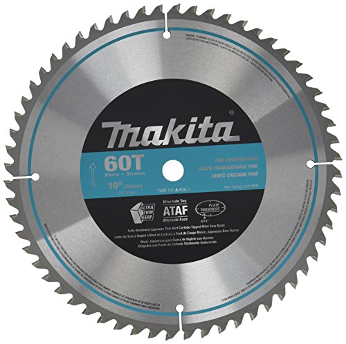 Makita A-93675 10-Inch 60 Tooth Micro Polished Mitersaw Blade ()