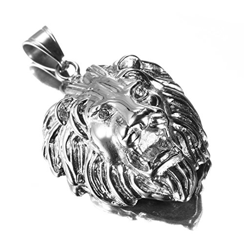 LOPEZ KENT Stainless Steel Necklace Mens Chinese Dragon Necklace Pendant