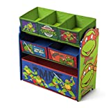 ninja turtles baby boy clothes - Delta Children Multi-Bin Toy Organizer, Nickelodeon Ninja Turtles