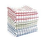YETHAN 100% Cotton Kitchen Dish Towels 15 Pack,15''x25'', Dish Towels, Tea Towels, Bar Towels, Machine Washable
