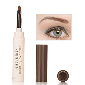 Frcolor Gel de cejas para maquillaje con cepillo Moda Profesional Ceja Tinte Pomada Crema Impermeable Larga duración (Café)