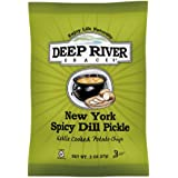 Deep River Snacks Kettle Chips, New York Spicy Dill Pickle, 24 Count