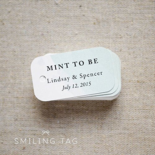 Mint To Be Wedding Favor Tags