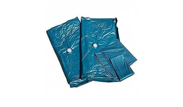 Para cama de agua de colchón de memoria de doble, 180 x 220 x 20 cm, completo de la calma: Amazon.es: Hogar