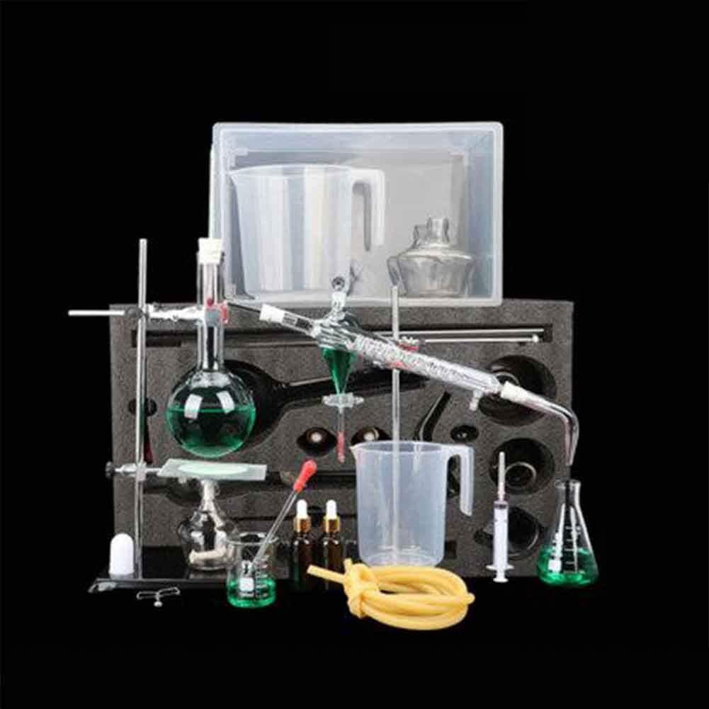 XFY Verre Unit/é de Distillation Laborchemie Aides /À lenseignement du Mat/ériel Denseignement Exp/érience Distiller Chimique Kit Dextraction Verrerie Sp/éciale