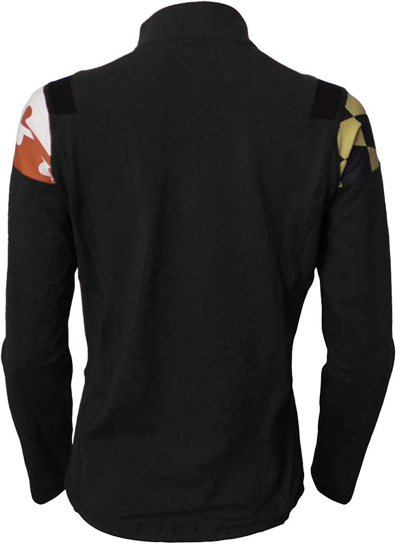 Maryland Flag Yoga Track Jacket Black