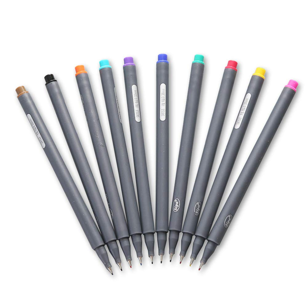 LoveInUSA 20-Count Fineliner Color Pen Set, 0.38mm Fine Line Drawing Pen