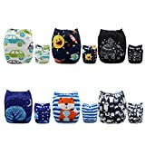 Alva Baby New Design Reuseable Washable Pocket Cloth Diaper 6 Nappies + 12 Inserts 6DM23