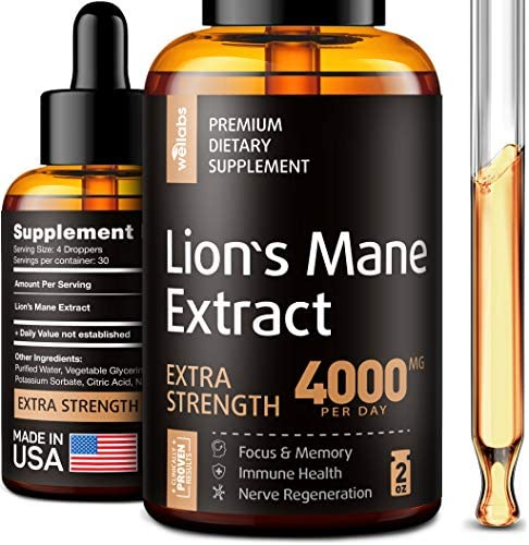Lion's Mane Extract - Lion's Mane Mushroom Supplement for Immune Support - Lion's Mane Supplement - Formulated in USA - Lion's Mane Mushroom Complex for Mental Health - Liquid Mushroom Supplement
