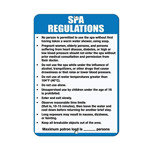 (Flyss Spa Rules & Regulations Read & Follow Spa Rules for Safety... Aluminum Metal Sign)