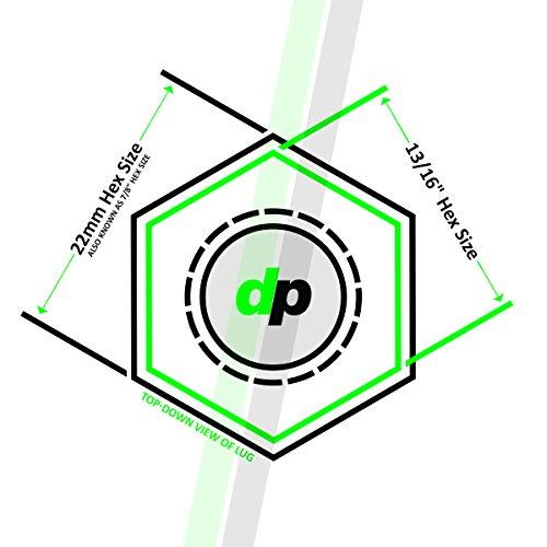 DPAccessories LOE2N8HCSCH04100 100 Chrome 14x1.5 Open End Duplex ET Spline Lug Nuts for Aftermarket Wheels Wheel Lug Nut by DPAccessories (Image #3)