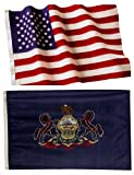 Pennsylvania State Flags (5×8 US Combo) For Sale
