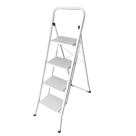 Funnyrunstore 4 Capas / 5 Capas Reemplazo Plegable Escalera de Tijera Escalera de pies Multiusos Antideslizante Blanca Escalera para el hogar: Amazon.es: Hogar