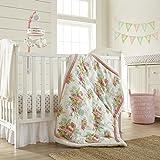 Levtex Home Baby Emma 5 Piece Crib Bedding Set, Coral/Teal/Cream