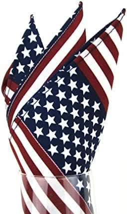 PS-FLAG - Red - White - Blue - USA FLAG Pocket Square