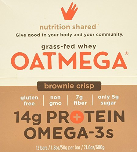 Boundless Nutrition Oatmegabar Brownie Omega 3 & Protein Bars 12 (1.8 oz.) bars per box (a) - 2PC - 3PC by Boundless Nutrition