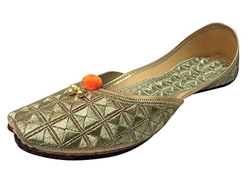 Steg N Style Kvinna Läder Jutti Skor Golden