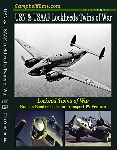 Lockheed Twins of WW2- C-60 Lodestar- A-28 Hudson Bomber- PV1 Ventura old aviation films
