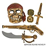 gun swords - GIFTEXPRESS 5-piece Halloween Pirate Costume/Halloween Costumes for Boys/Pirate Paraphernalia/Pirate Costume Accessories (Sword, Compass, Dagger, Mask, Gun)