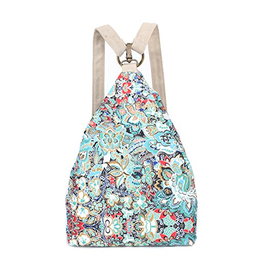Black Butterfly Original Women's Bohemia National Style Canvas Backpack Shoulder Bag (small), L