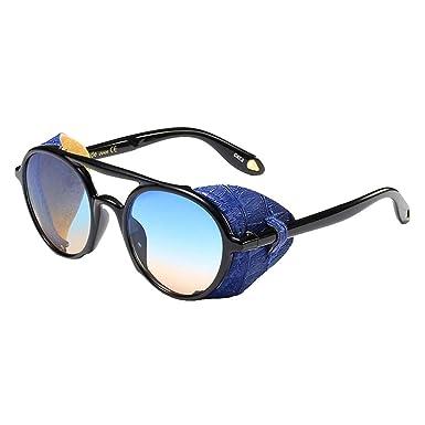 Yuandongxing Gafas Redondas Steampunk Gafas de sol Hombres ...