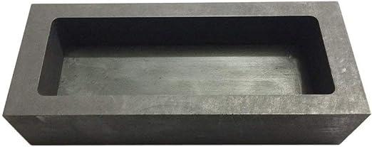 TEHAUX Molde de Lingote de Grafito Molde de Lingote de Grafito de Plata Dorada Crisol para Moldes de Oro//Plata//Metal-3 Ranuras Molde de Fundici/ón