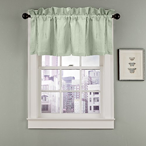 Veratex The Madison Window Collection 100% Linen Made in the USA Modern & Elegant Tailored Window Valance, ()