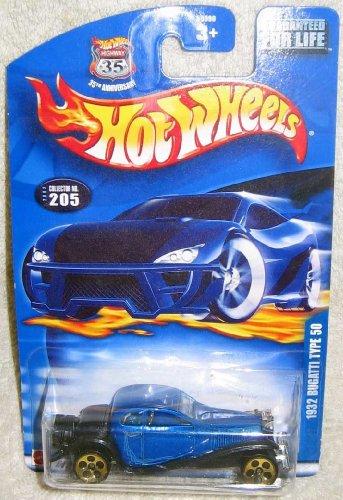 Mattel Hot Wheels Highway 35 1932 BUGATTI TYPE 50 Blue 1:64 Scale Die Cast Car 2002-205