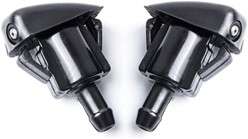 2pcs Color : Black Parabrisas Delantero mont/ón Lavadora Jet Boquilla for To-yo-ta Prius Corolla Verso AR10 Highlander MK1 OE # 98630-2E500 Boquillas de limpiaparabrisas