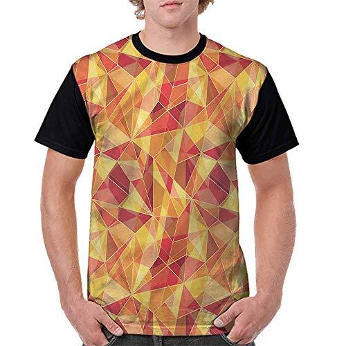 (BlountDecor Cotton T-Shirt,Mosaic Digital Style Fashion Personality Customization)