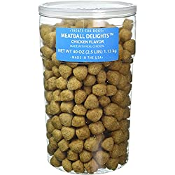 TRIUMPH PET INDUSTRIES 60098 Meatballs Chicken Treats for Dogs Net Wt 40 oz (2.5 lbs)