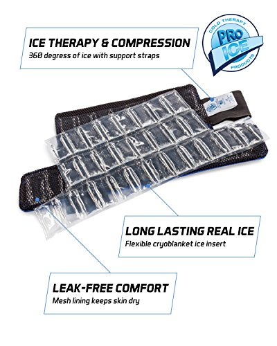 Ankle/Foot Ice Therapy Wrap – Perfect for Sprained Ankles, Plantar Fasciitis, Achilles tendonitis, and Swelling Feet - Ice Packs Included by PRO ICE COLD THERAPY PRODUCTS (Image #4)