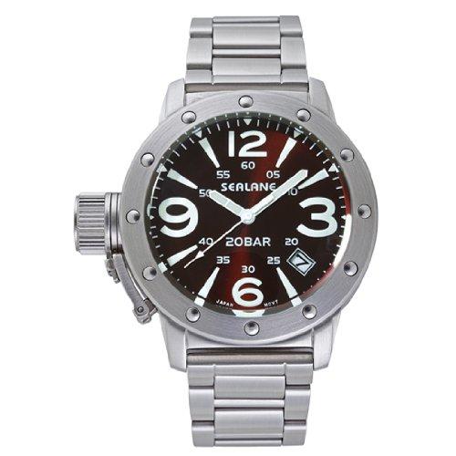 SEALANE 20 BAR design watch metal N luminescent SE32-MBR mens watch