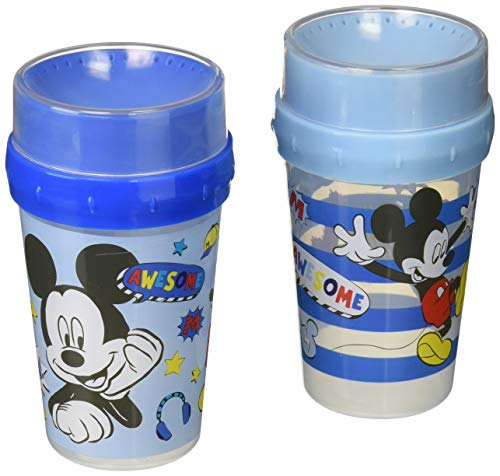 Disney Mickey Mouse 2 Piece 360 Toddler Drinking Cup with So Cool Prints ()