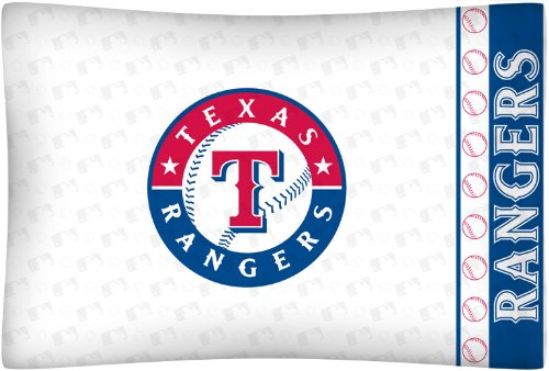 fan products of MLB Texas Rangers Micro Fiber Pillow Case Logo