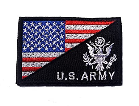 Green X.Sem USA American Flag w//U.S.Army Patch 2 Pack Tactical Patches Embroidery Morale Emblem