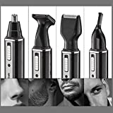 Toyofmine Professional 4 in 1 Rechargable Water Resistant Ear Nose Hair Beard Trimmer Nose Hair Nose Ear Beard Sideburn Eyebrow Shaver