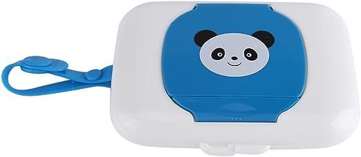 Fdit Caja de Almacenamiento de Toallitas H/úmedas para Cochecito Viaje al Aire Libre para Beb/és Caja Contenedor de Toallitas H/úmedas Recargable para Ba/ño Sala Panda Rosa