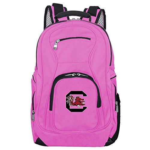 NCAA South Carolina Fighting Gamecocks Voyager Laptop Backpack, 19-inches, Pink