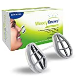 WoodyKnows Super Defense Nose Nasal Filters (New Model) Reduce Pollen, Dust, Dander, and Mold Allergens Allergy Relief, Air Pollution PM2.5(2 Filter Frames and 6 Pairs of Replacement Filters)(I-S)