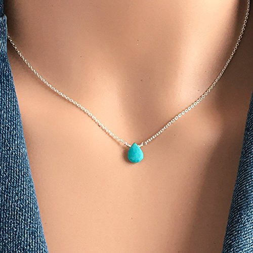- Simple Turquoise Choker Necklace - December Birthstone