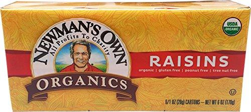 Newman's Own Organics Raisins, 1-Ounce Boxes (Pack of 6)