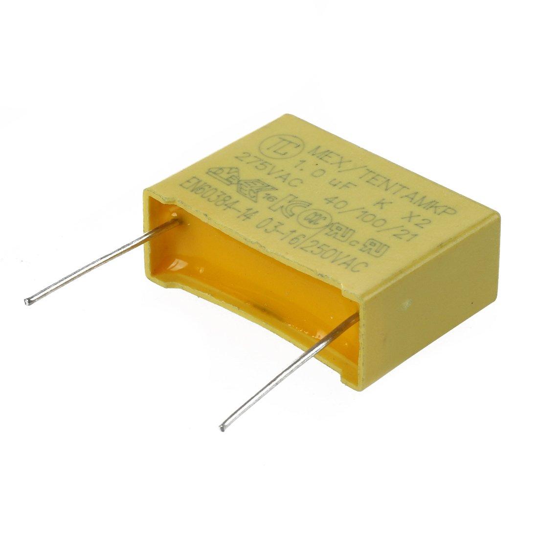 SODIAL(R) 10 Pcs AC 275V 1uF Polypropylene Film Safety Capacitors