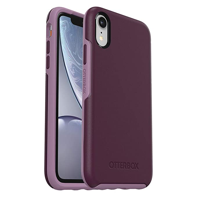 the latest ba250 2b633 OtterBox SYMMETRY SERIES Case for iPhone XR - Retail Packaging - TONIC  VIOLET (WINTER BLOOM/LAVENDER MIST)