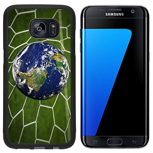 Liili Samsung Galaxy S7 Edge Aluminum Backplate Bumper Snap Case Iphone6 Image Id  16215494 Earth Globe In Goal Net With Green Grass Field